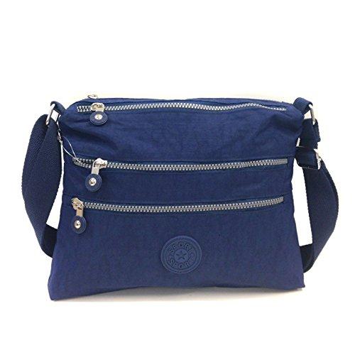 Avashion Ltd - Bolso cruzados para mujer caqui small azul marino