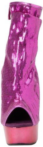 De Hoogste Hiel Vrouwen Amber-411 Bootie Fuchsia Sequin