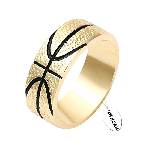 NOUMANDA Personalized Design Basketball Finger Ring Ball Lovers of Gifts (8)