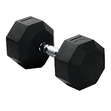 SPRI Deluxe Rubber Dumbbell (35-Pound)