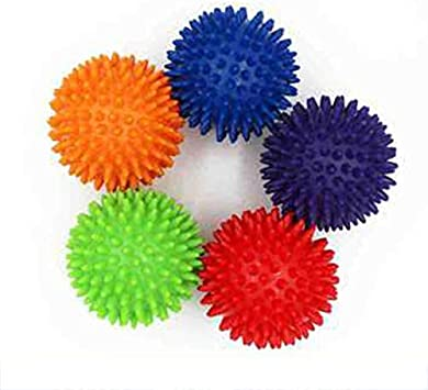 HoganeyVan Spiky Foot Sole Hand Massage Ball Yoga Sports Fitness Hand Foot Pain Relief Tool Muscle Relax Apparatus Random Color