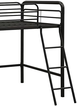 DHP Junior Loft Bed Frame With Ladder, Black