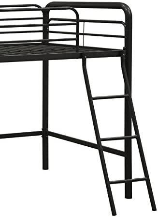 dhp junior loft bed frame with ladder, multifunctional space-saving design, black DHP Junior Loft Bed Frame with Ladder, Multifunctional Space-Saving Design, Black 41fxtwh0G0L