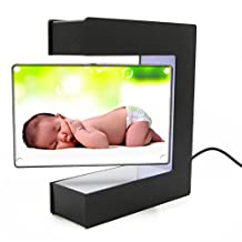 RioRand Rotating Magnetic Levitation Square Shaped Photo Frame Suspended in Air Floating with LED Lights