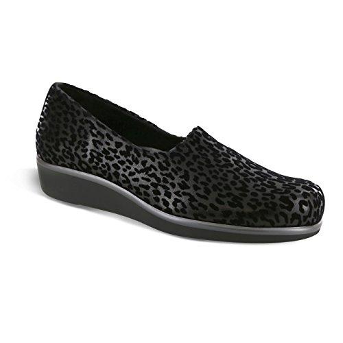SAS San Antonio Shoe Women's, Bliss Slip On Low Heel Shoes Black Leopard