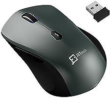 JETech 2.4Ghz Schnurlos Mobil Maus Kabellose Maus mit USB Nano Empfänger 12 Monate Batterielebensdauer