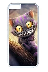 iPhone 6 Plus Case, Alice In Wonderland Cheshire Cat Creativity Cute Ultra Slim Pattern Bumper for iPhone 6 Plus Cover (5.5) iPhone 6 Plus cases for Girls iphone 6 Plus case hard PC White Skin by mcsharksby Maris's Diary