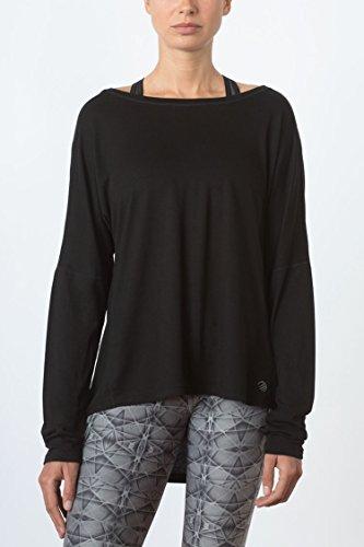 MPG Julianne Hough Women's Chia Drape Top S Black