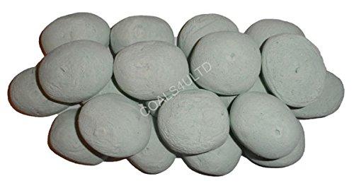 20 Duck Egg Blue Gas fire Ceramic Pebbles Replacements//Bio Fuels//Ceramic NEW /& EXCLUSIVE TO COALS 4 U