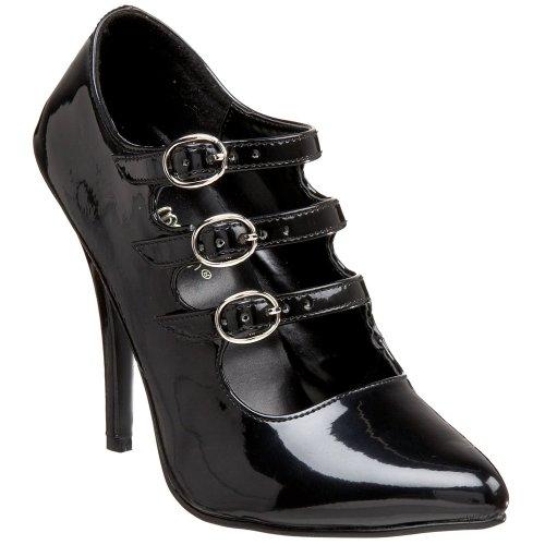 Pleaser , Sandales pour femme Noir Blk Pat 13 UK
