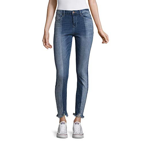 (Vanilla Star Juniors' Two-Tone Shadow Stripe Skinny Jeans (Taylor, 11))