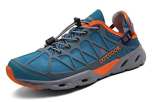 Dry Hiking Quick Blueorange HS666 Outdoor Unisex Women TZT Shoes Breathable Sneakers Walking Men TZTONE xIgtRw
