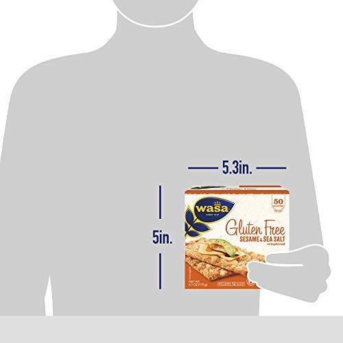 Wasa Gluten Free Sesame & Sea Salt Crispbread, 6.1 oz (Pack of 10)