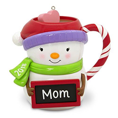 Hallmark Keepsake Christmas Ornament 2018 Year Dated, Mom Snowman Mug