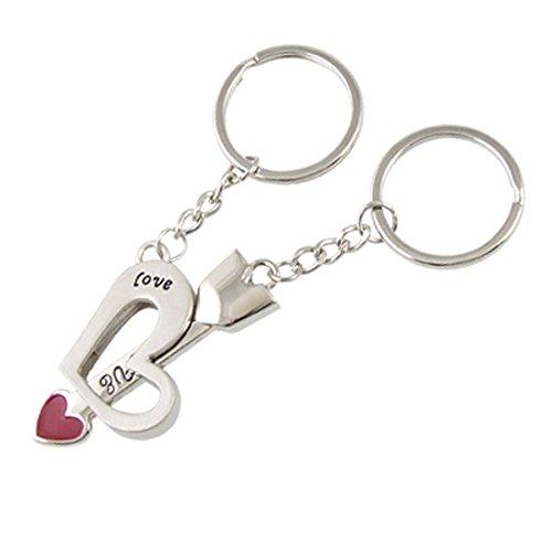 Silber-Ton-Herz-Pfeil-Schlüsselanhänger für Paare Lovers