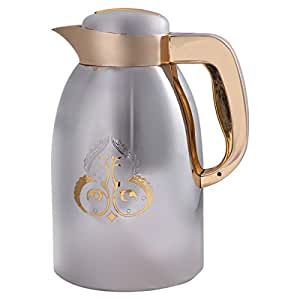 May Flower Stainless Steel Vacuum Flask, Silver