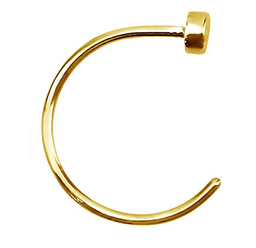 Forbidden Body Jewelry 22g 8mm Gold Tone Surgical Steel Perfect Basics Comfort Fit Nose Hoop (By Body Jewelry)