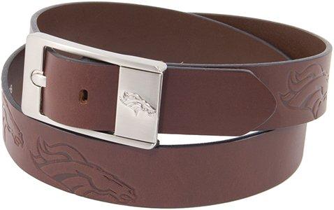 Denver Broncos Brandished Belt - 34 Waist - Bullet Logo Belt Buckle