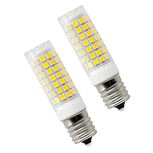 8W Dimmable LED E17 Microwave Oven Bulb - Intermediate Base LED Appliance Light, Daylight 6000K 100W Halogen Equivalent Under-Microwave Stove Light (2-Pack) 100 Watt E17 Medium Base