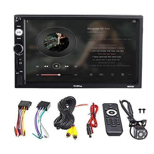 Daphot-Store - 7 Inch 2 Din Screen Car MP5 Player bluetooth Stereo FM Radio USB TF AUX In Handsfree Autoradio Car Rear View Camera
