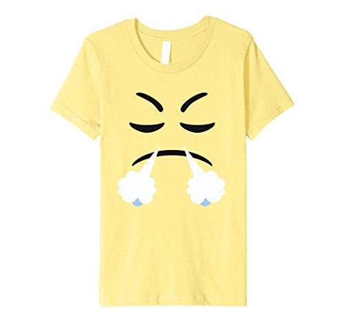 Devil Costume Steam (Kids Halloween Emoji Face With Steam Costume Premium T-shirt 10 Lemon)