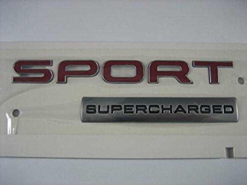 Genuine Range Rover Sport Red Supercharged Badge Emblem ()