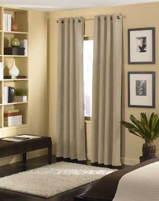 Curtainworks Cameron Grommet Curtain Panel, 50 by 120″, Sand