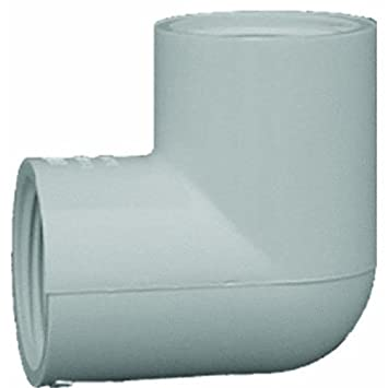 PVC Sch  40 90 Threaded Elbow [Set of 10] Size: 0 75