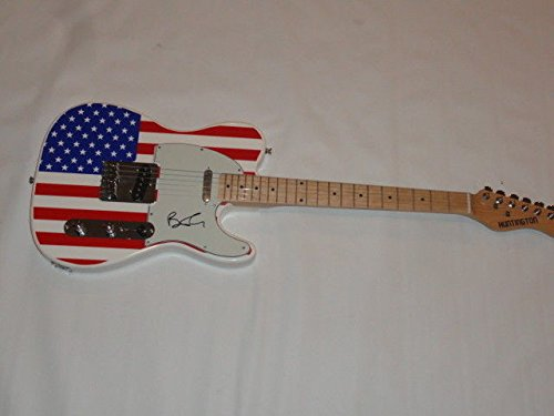 Autographed Ben Folds Signed Usa Flag Electric Guitar Ben Folds Five Tele Rare JSA Certified