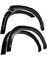 Tyger Auto TG-FF8D4148 For 2009-2018 Dodge Ram 1500; 2019 Ram 1500 Classic | Exclude R/T & Rebel Models | Paintable Smooth Matte Black Pocket Bolt-Riveted Style Fender Flare Set, 4 Piece