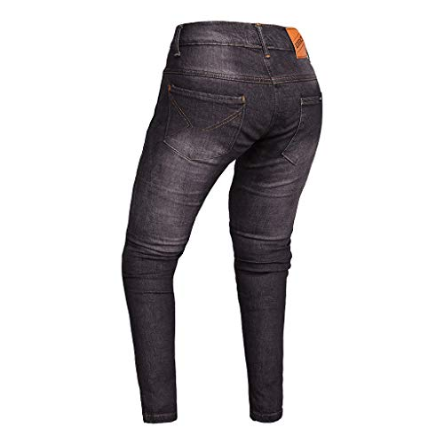 RIDERACT Motorcycle Riding Jeans Reinforced with Dupont Kevlar Lining Stretch Motorbike Jeans Black