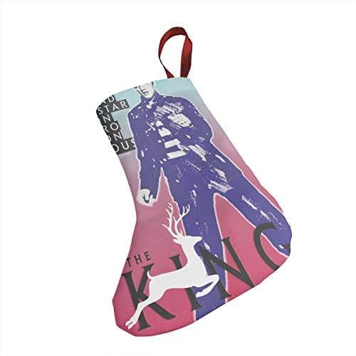 クリスマスの日の靴下 (ソックス3個)クリスマスデコレーションソックス Elvis Presley クリスマス、ハロウィン 家庭用、ショッピングモール用、お祝いの雰囲気を加える 人気を高める、販売、プロモーション、年次式