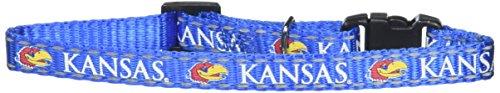 (Pet Goods Manufacturing NCAA Kansas Jayhawks Cat Collar, 3/8 x 8-12