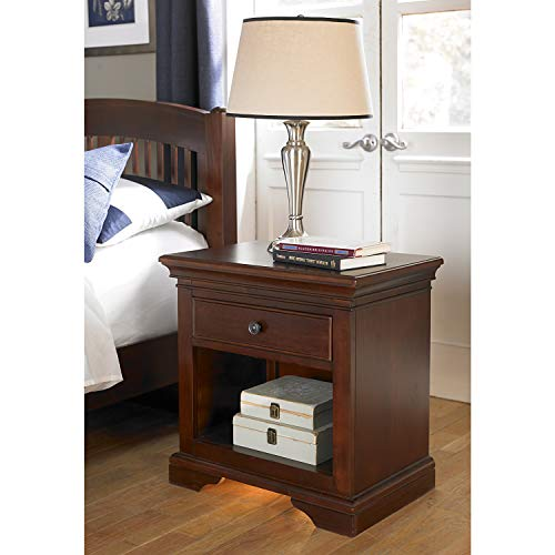 Hillsdale Furniture 9530 NE Kids Walnut Street Nightstand with Built Light Night Stand, Chestnut