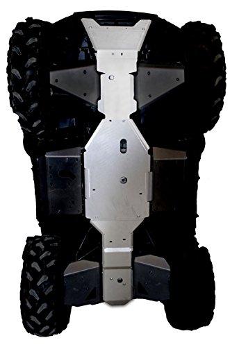2008-2018 Kawasaki Brute Force 650/750 3-Piece Full Frame Aluminum Skid Plate Set By Ricochet -