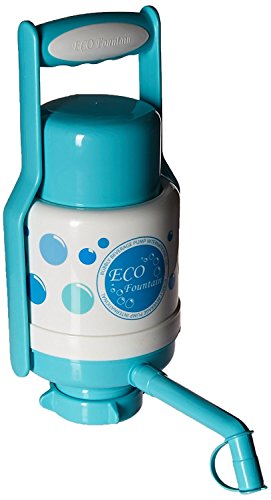 Eco Fountain Hand Press Manual Drinking Water Pump with Handle - BFA Free - Fits 3 & 5 Gallon Container