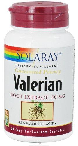 Solaray - extrait de racine de valériane, 50 mg, 60 capsules
