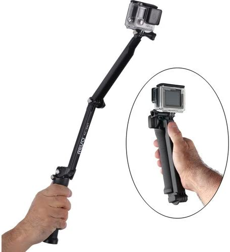 Revo 3-in-1 Adjustable Arm Grip /& Tripod for GoPro 4 Pack