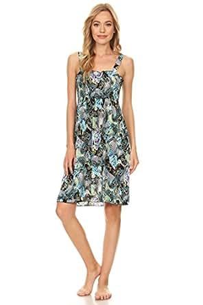 2626 Sun Dress Multi Colors Stretch Knee High Tank Top Women Dress Multi 42 M