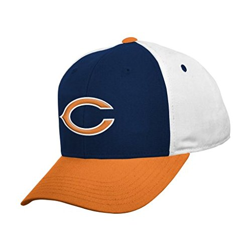 NFL Chicago Bears Boys 8-20 Color Block Adjustable Cap, Youth One Size, Dark - Kids Chicago Accessories Bears