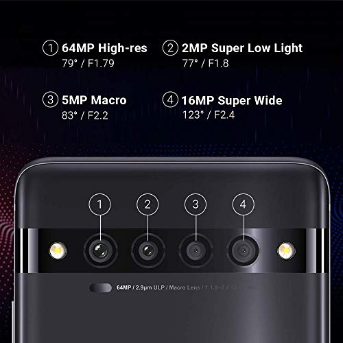 """TCL 10 Pro Unlocked Android Smartphone with 6.47"""" AMOLED FHD + Display, 64MP Quad Rear Camera System, 128GB+6GB RAM, 4500mAh Fast Charging Battery"""
