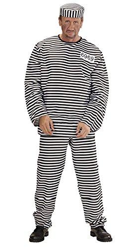 Mens Convict Costume Extra Large Uk 46