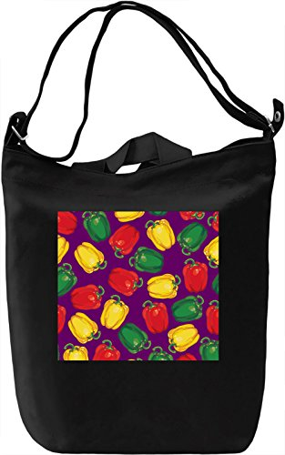 Paprika Print Borsa Giornaliera Canvas Canvas Day Bag| 100% Premium Cotton Canvas| DTG Printing|