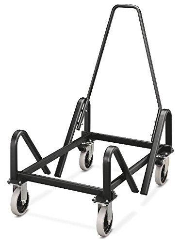HON The Company Stack Chair Cart with Casters, 21-3/8 by 35-1/2 by 37-Inch, Steel/Black ()