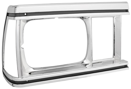RestoParts 99L0078-RH Headlight Bezel 1981 Chevy El Camino/Malibu Chrome Finish