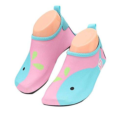 Kinder Strand Schuhe Sportschuhe Wasser Schuhe Soft Schuhe Indoor Schuhe Socken Schuhe Pink Blau
