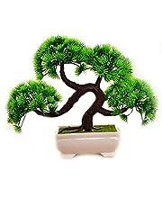 Mini Artificial Pine Bonsai Tree Simulation Guest-Greeting Pine Kunstmatige Planten voor Thuis Office Decor, Room Decorations