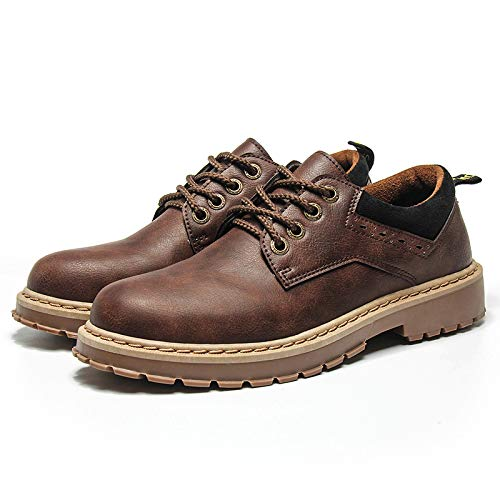 Dark Botas Men's Autumn Military Boots Brown Wild De Shoes Martin Shukun Winter Hombre Tooling U4w4q6B7a