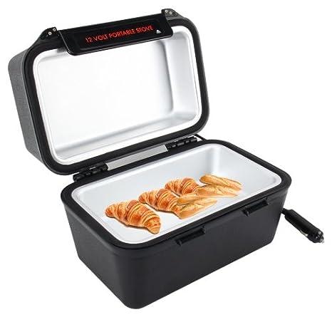 Amazon.es: 2L coche enchufe caja de almuerzo caliente Camping Canotaje estufa portátil de 12 V con toma de corriente de vehículo