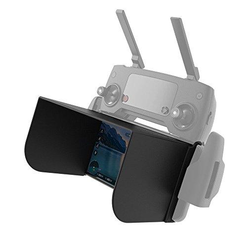 Price comparison product image IRCtek Phone Monitor Sun hood Sunshade for DJI Mavic Pro Phantom 4/3 Inspire 1 M600 Romote controller and Osmo - Black (L121mm), Support Phantom 4 Pro+(with screen) LG G4/G5 Huawei P8/P9/ Honor 8 etc
